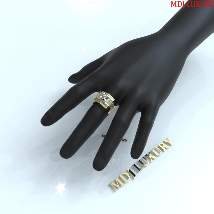 Nhẫn vàng nam đá Shapphire NN123 nhẫn nam đá sapphire