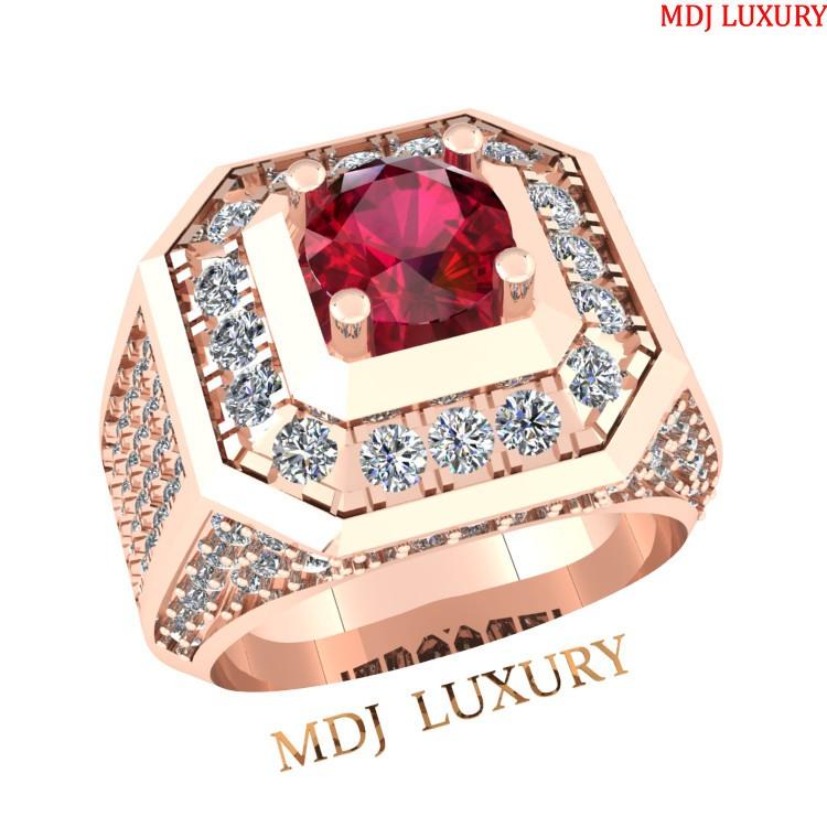 Nhẫn vàng nam mặt đá Kim cương thiên nhiên – NN128 Nhẫn vàng nam mặt đá Kim cương thiên nhiên – NN128 Nhẫn Vàng Nam