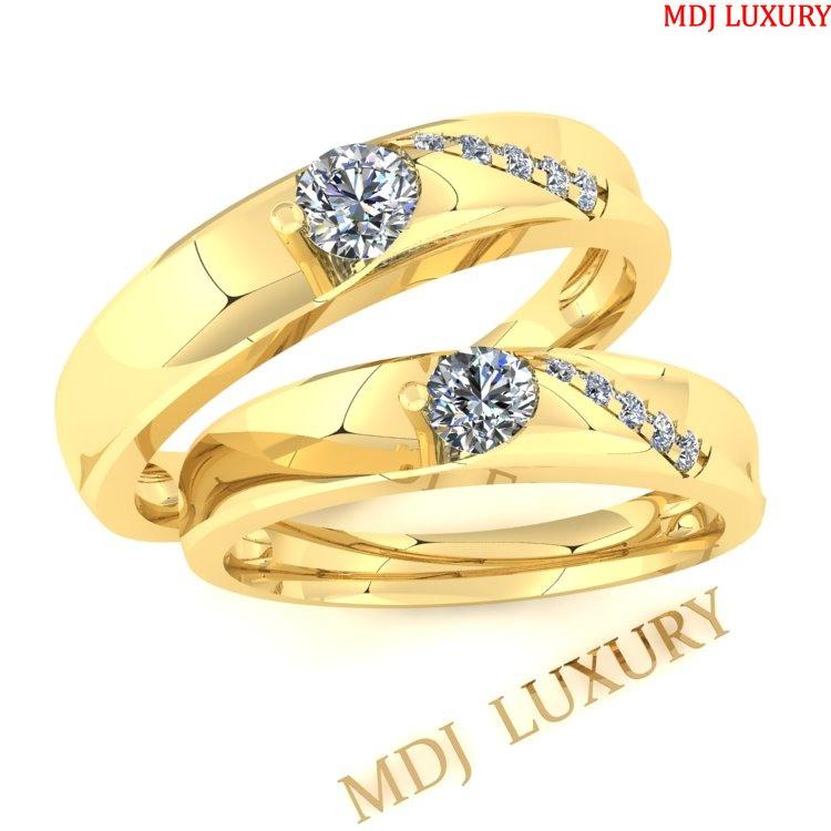 Nhẫn cưới vàng Ý 18K NC69