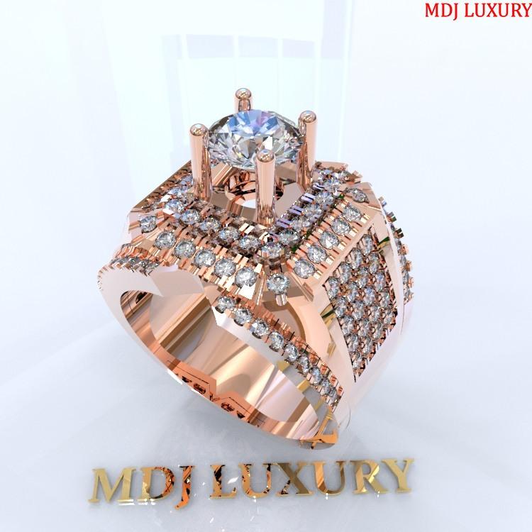 Nhẫn vàng tây nam MDJ NN136 Nhẫn Nam kim cương