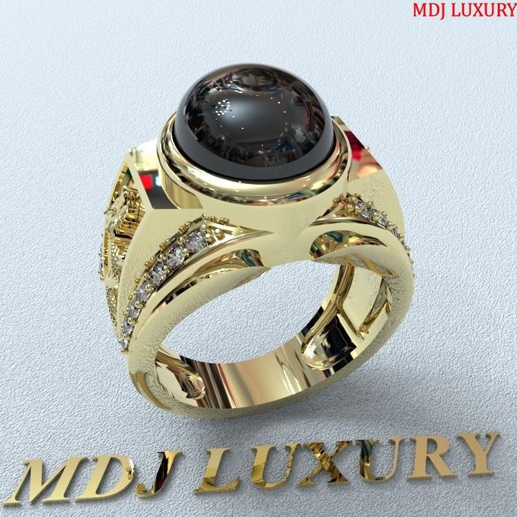Nhẫn vàng nam phong thủy - đá Đen NNPT01
