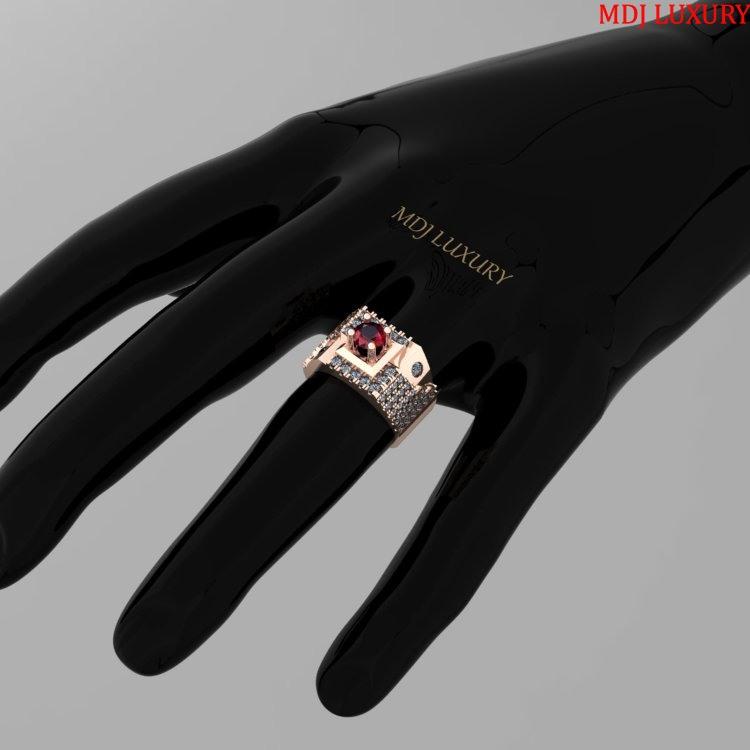 Nhẫn vàng trắng nam NN118 Nhẫn Nam vàng hồng