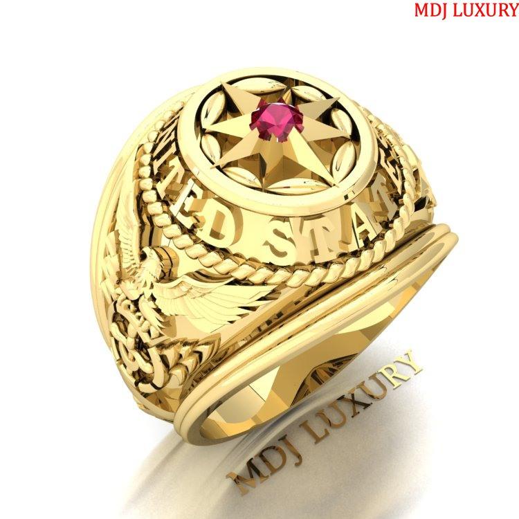 Nhẫn Mỹ Nam vàng tây United states Navi – NN109 nhẫn mỹ vàng Tây