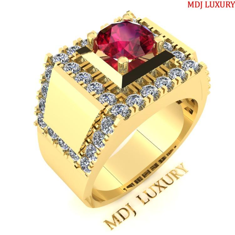 Nhẫn Nam kim cương MDJ vàng 18K NN116 Nhẫn Nam kim cương MDJ vàng 18K NN116 Nhẫn Vàng Nam