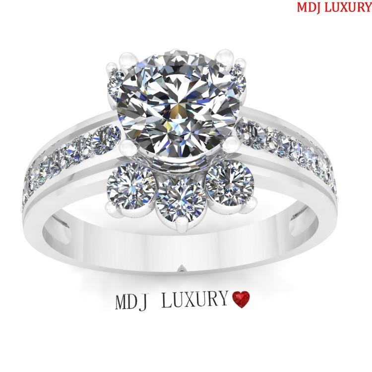Nhẫn vàng trắng - Nhẫn vàng cao cấp NNU30