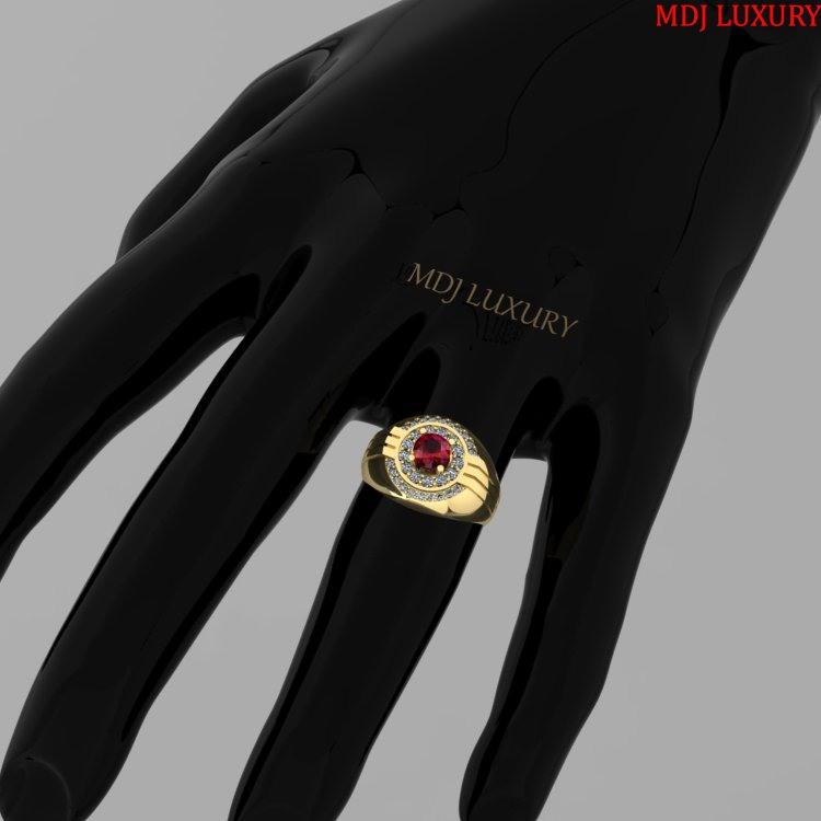 Nhẫn Nam vàng trắng, Vàng Tây 18K MDJ NN117 Nhẫn Nam vàng hồng