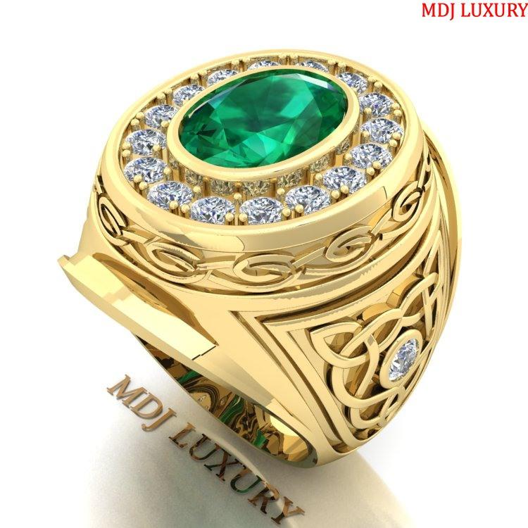 Nhẫn vàng nam NN173 nhẫn mỹ vàng Tây