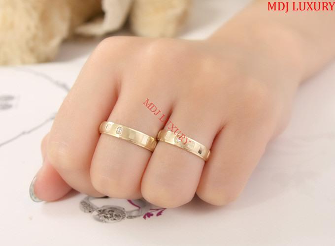 Nhẫn cưới vàng MDJ74878 Nhẫn cưới dưới 3 triệu