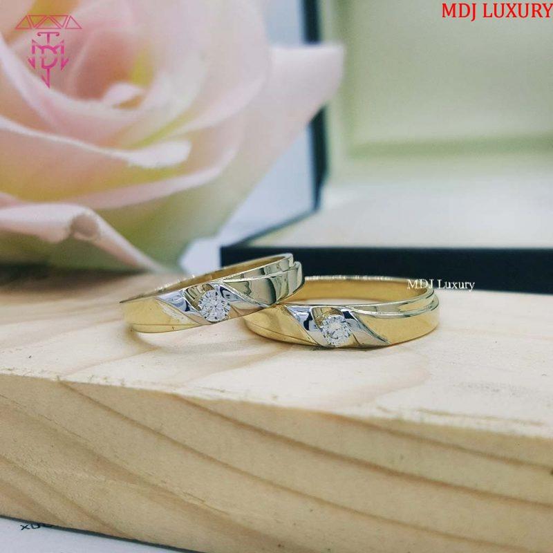 MDJ LUXURY - Trang sức vàng - Kim Cương Nhẫn cưới vàng tây NCM05