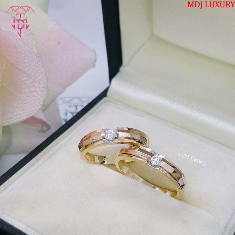 nhẫn cưới vàng hồng