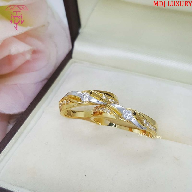 Nhẫn cưới vàng tây NCK14 Nhẫn cưới vàng tây NCK14 Nhẫn Cưới Vàng Đẹp ♥