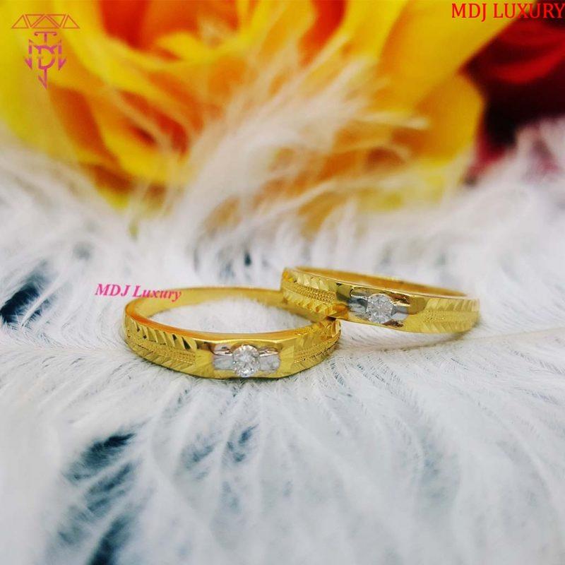 Cặp nhẫn cưới vàng tây 10K NCK15 nhẫn cưới đẹp