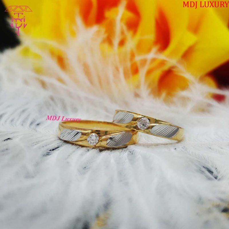 Nhẫn cưới vàng tây NCK16 nhẫn cưới kim cương