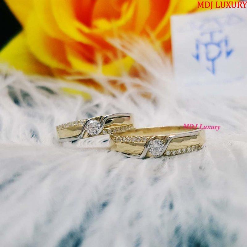 Nhẫn cưới vàng tây cao cấp NCK21 nhẫn cưới kim cương