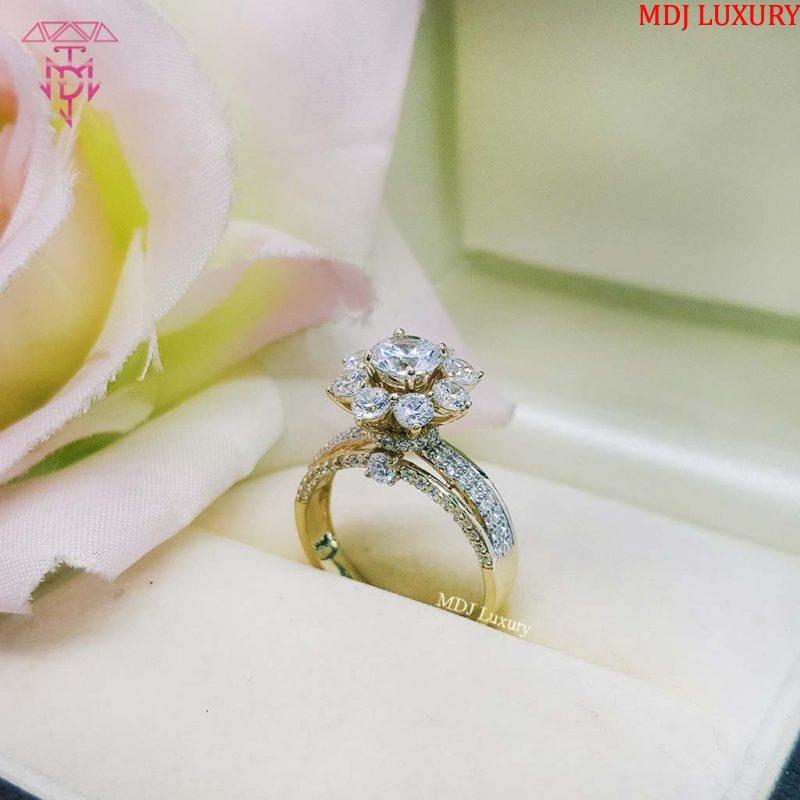 MDJ LUXURY - Trang sức vàng - Kim Cương Nhẫn vàng tây nữ NUK01