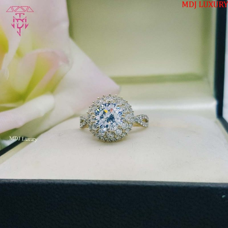 MDJ LUXURY - Trang sức vàng - Kim Cương Nhẫn vàng tây nữ NUK02