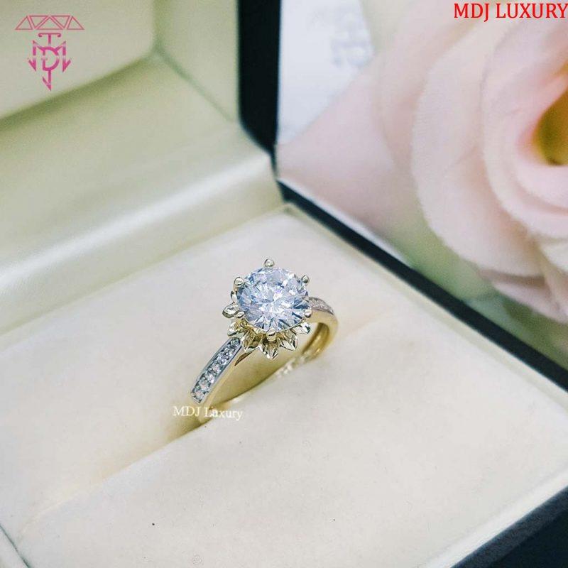 MDJ LUXURY - Trang sức vàng - Kim Cương Nhẫn nữ đẹp NUK03