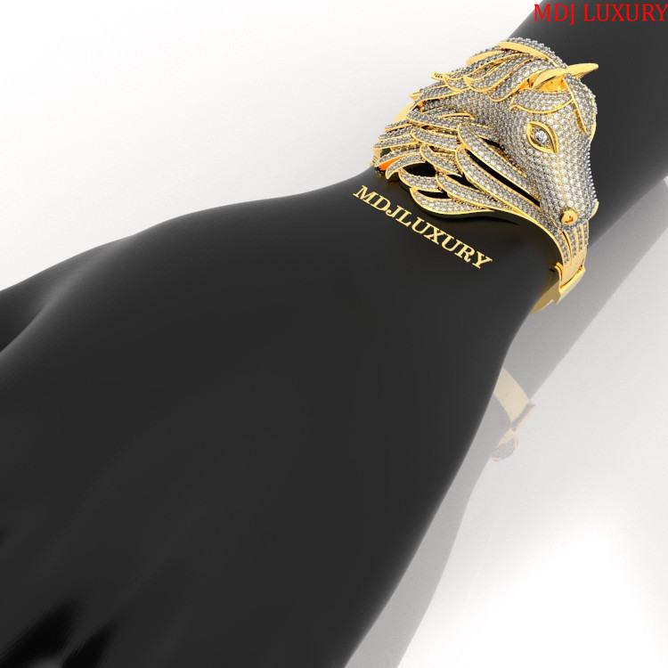 MDJ LUXURY - Trang sức vàng - Kim Cương Vòng tay Nam Vàng 14K, 18K