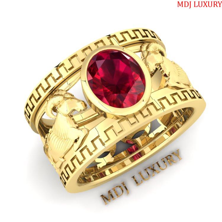 Nhẫn Nam Tuổi Mùi Đẹp – Nhẫn vàng nam tuổi Mùi  NN189 Nhẫn nam con giáp