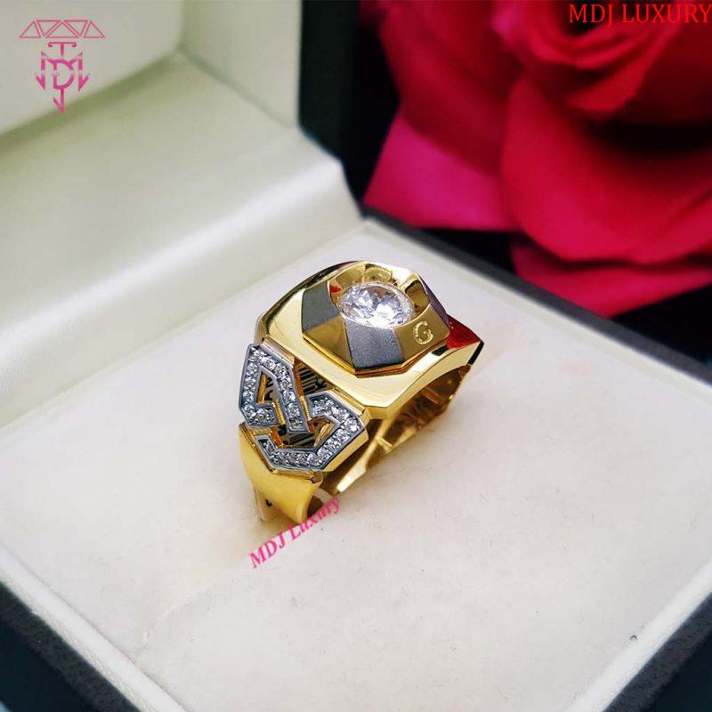 Nhẫn nam vàng tây NNK03 nhẫn nam đá Ruby