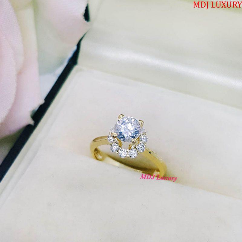 Nhẫn vàng nữ cao cấp NUK17 nhẫn nữ vàng tây