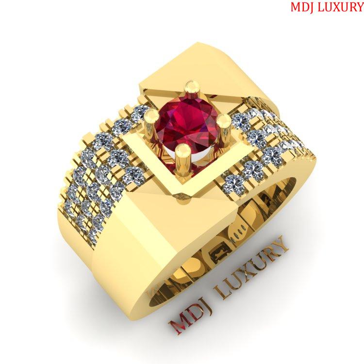 Nhẫn Vàng Nam Đep MDJ – NN198 Nhẫn Nam vàng hồng