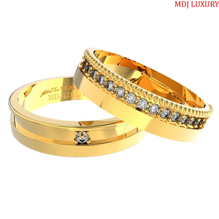 Nhẫn cưới vàng trắng – nhẫn cưới đẹp NC126 Bộ sưu tập nhẫn cưới 2019 Nhẫn Cưới Vàng Tây Đẹp ♥ Giá Tốt Khi Mua Tại XƯỞNG VÀNG MDJ