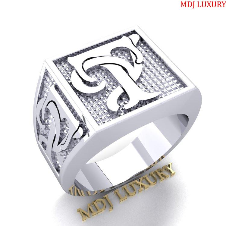 Nhẫn Nam Chữ T – Nhẫn vàng nam chữ cái NN217 nhẫn nam vàng tây