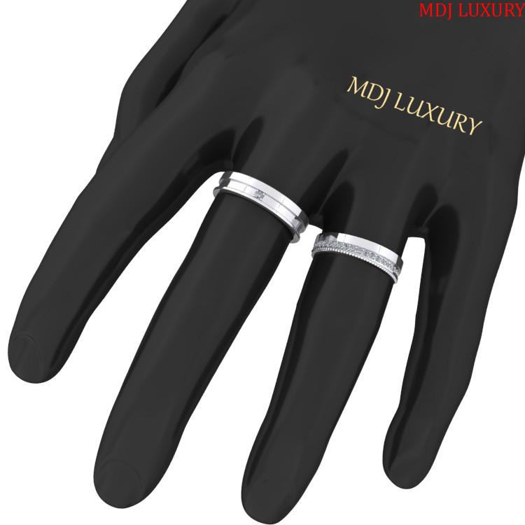 Nhẫn cưới vàng trắng – nhẫn cưới đẹp NC126 Bộ sưu tập nhẫn cưới 2019