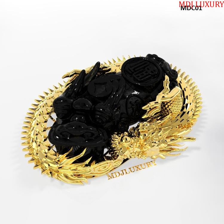Mặt dây tỳ Hưu vàng MDC01 [tag]