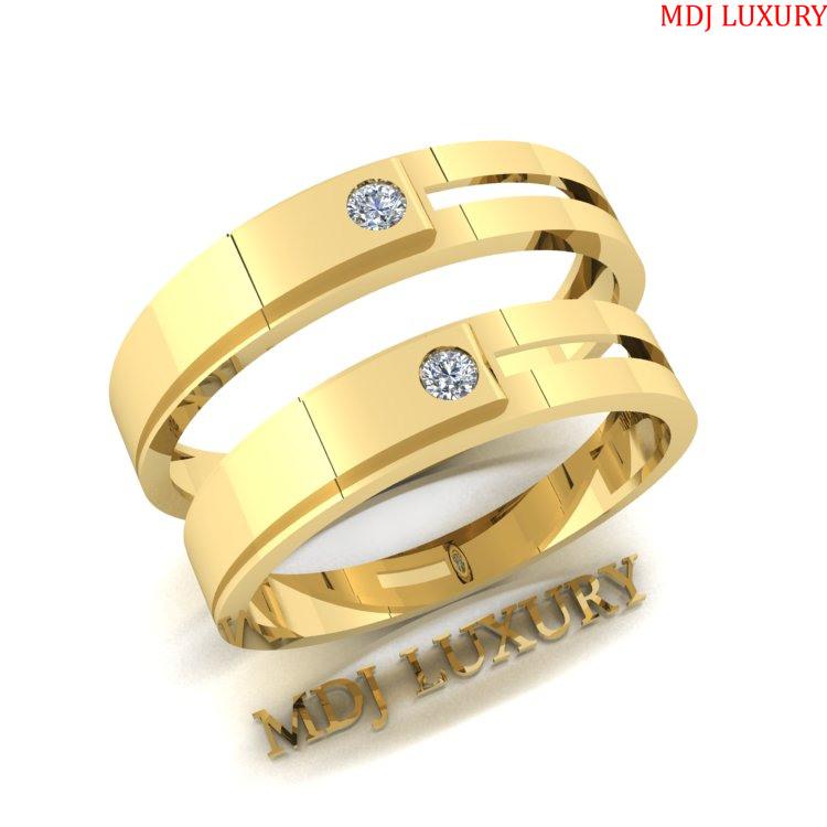 Nhẫn Cưới Vàng Chanh MDJ LUXURY NC145 Bộ sưu tập nhẫn cưới 2019