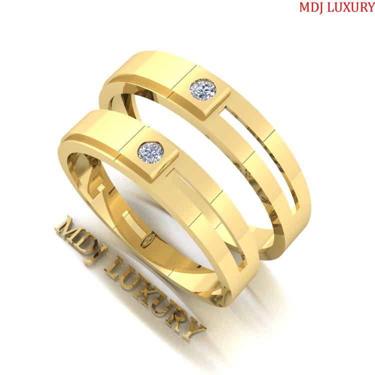 Nhẫn Cưới Vàng Chanh MDJ LUXURY NC145