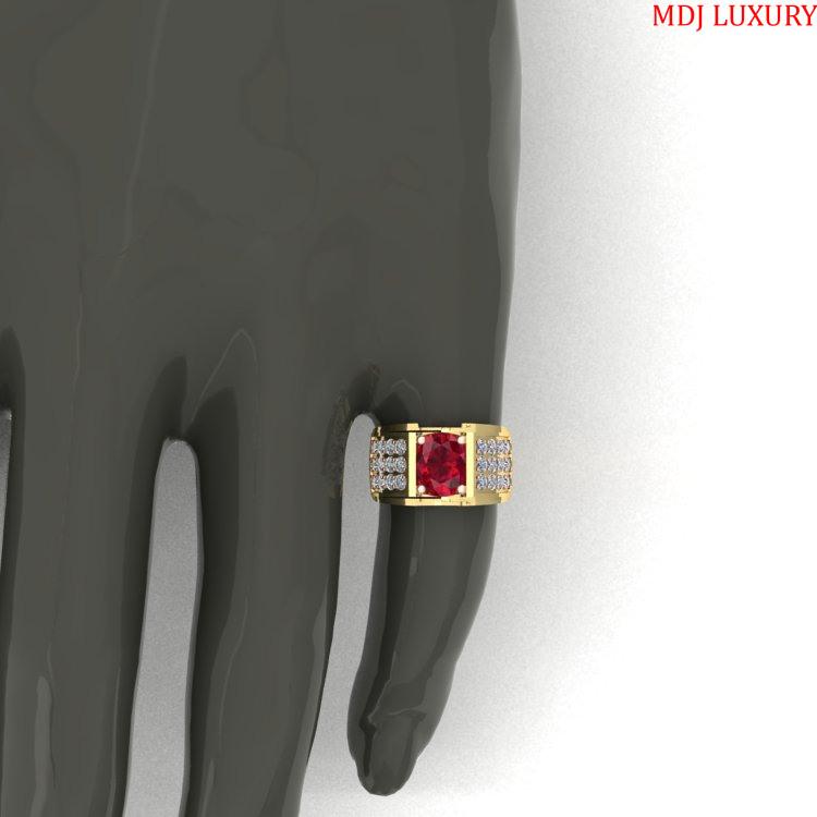 Nhẫn Vàng Nam Đá Ruby Lục Yên NN225