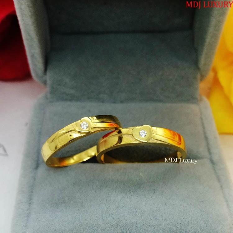 Nhẫn cưới  NC109 Vàng Vàng Bộ sưu tập nhẫn cưới 2019