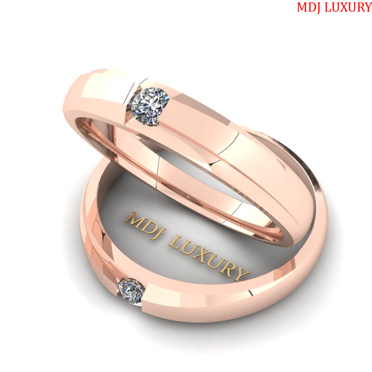 Nhẫn cưới vàng Hồng 18K NC 153