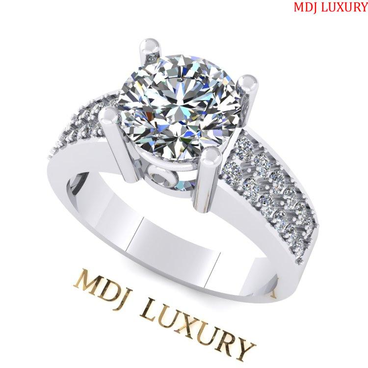 Nhẫn đính hôn kim cương Tiffany MDJ NNU113