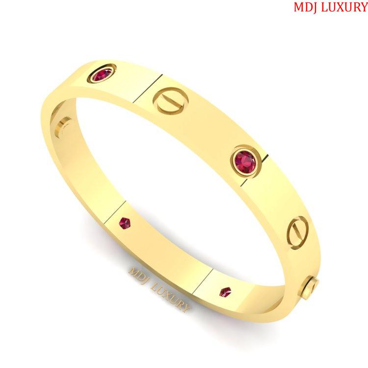 Lắc tay nữ vàng trắng – Lắc Tay Cartier VTN10 [tag]
