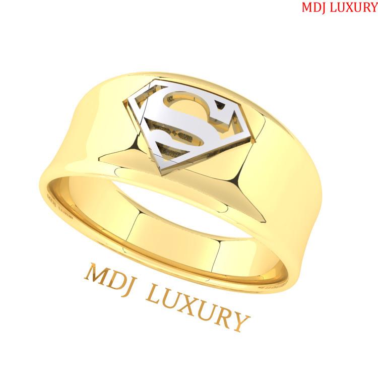 Nhẫn Nam superman vàng 18K - MDJ NN255