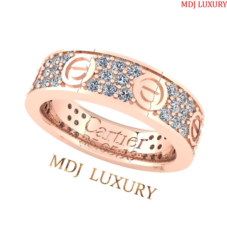 Nhẫn Cầu Hôn Catier vàng hồng MDJ NNU123