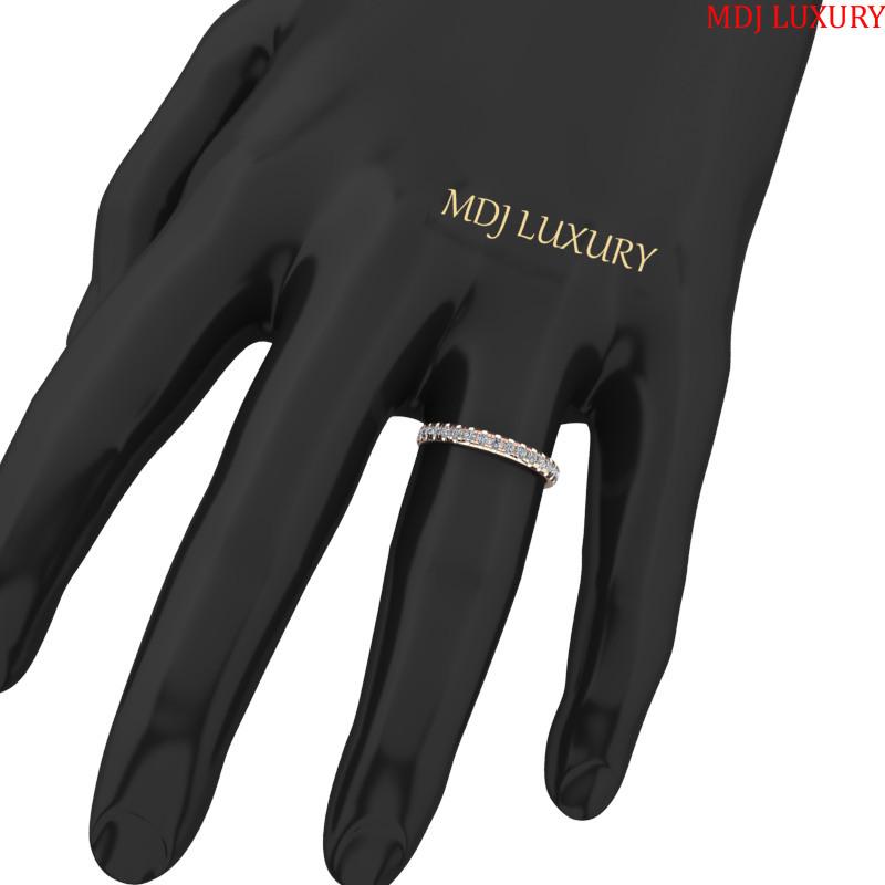 Nhẫn đính hôn vàng trắng nữ  MDJ NNU126 [tag]