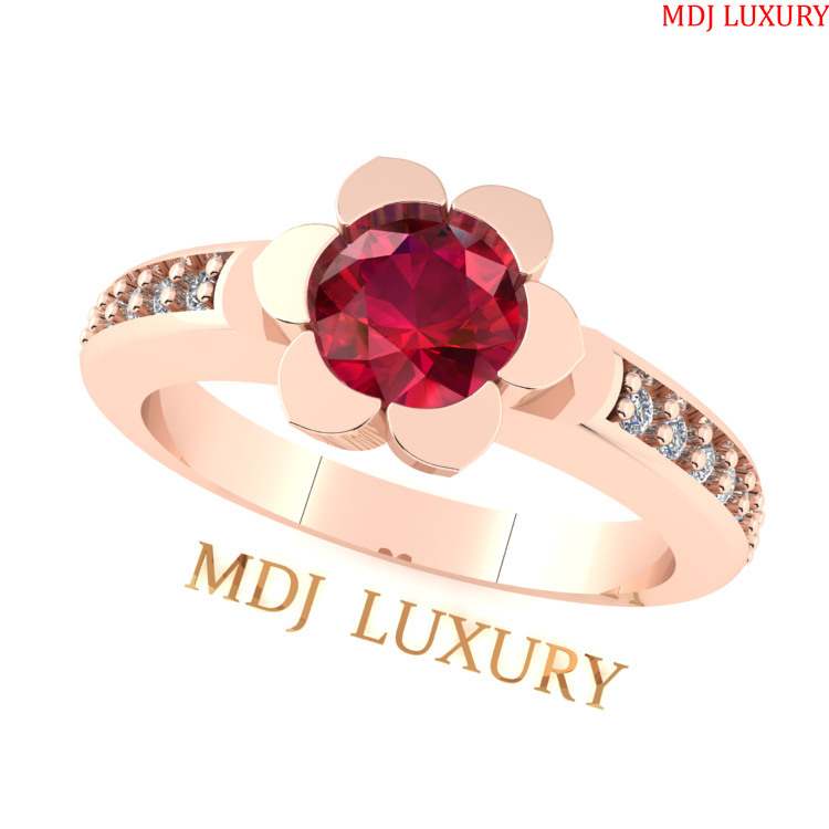Nhẫn đính hôn vàng trắng MDJ NNU136 [tag]