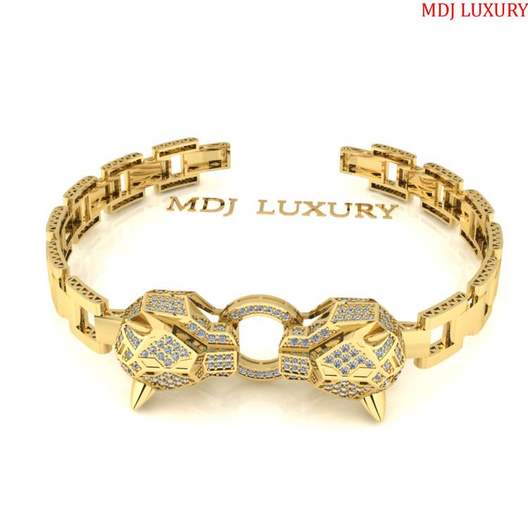 Lắc Tay Nam vàng 18K - Lắc tay Báo Cartier-MDJ 18K LTN09
