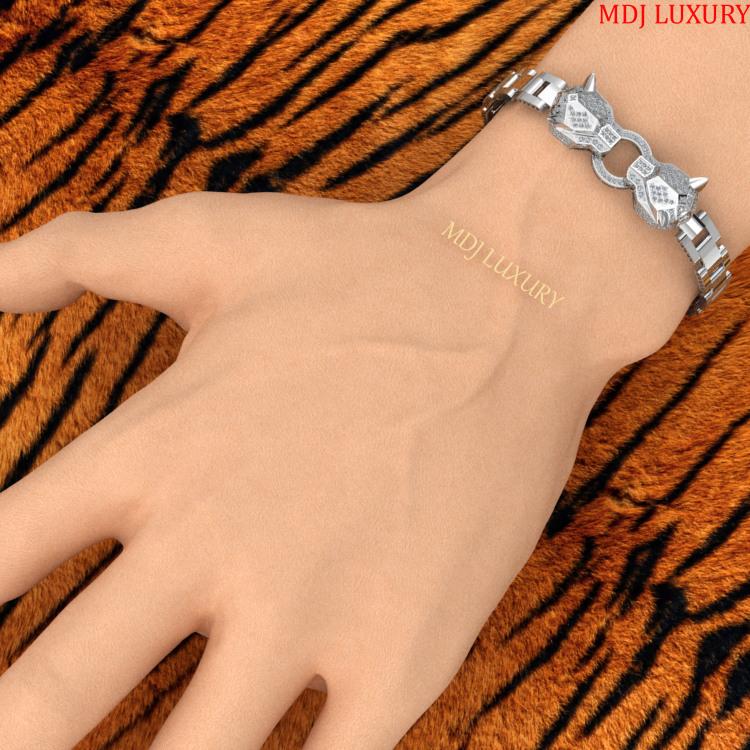 Lắc tay nam vàng 18K – Lắc tay Báo Cartier 18K LTN09 Lắc tay nam vàng 18K – Lắc tay Báo Cartier 18K LTN09 Lắc tay nam