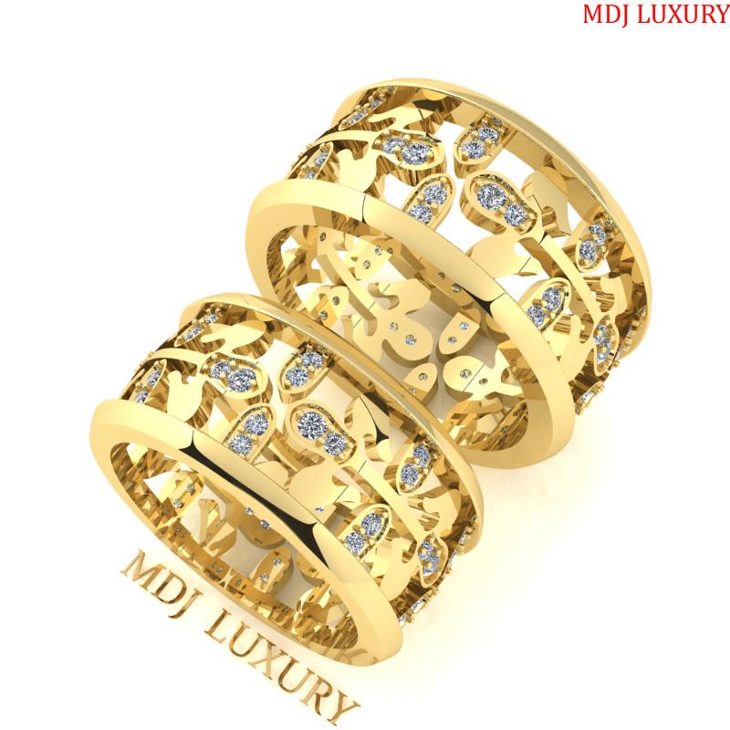Nhẫn cưới vàng tây 18K Hathor Hà Nội NC161 [tag]
