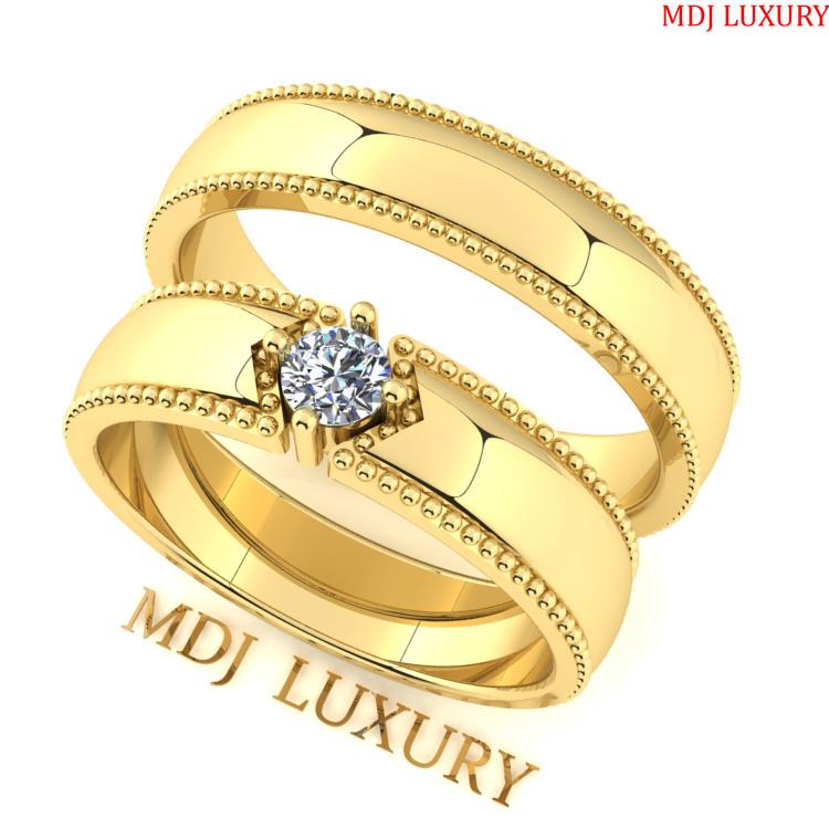 Nhẫn cưới vàng tây 18K Hathor Hà Nội NC162