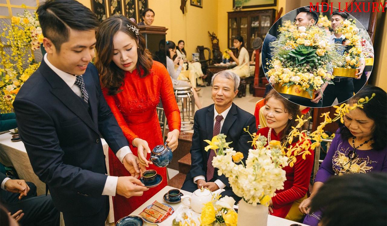 Thành phần tham gia lễ ăn hỏi - lễ đính hôn