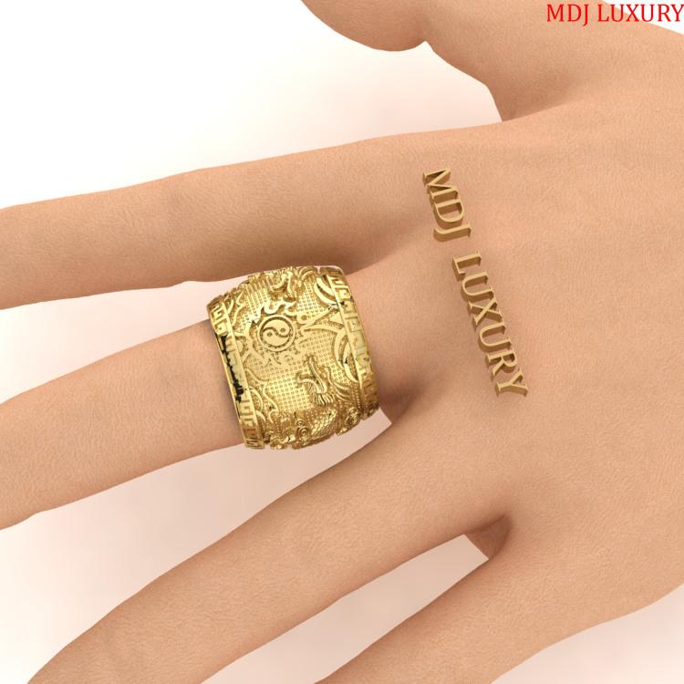 Nhẫn Nam Song Long Vàng 18K MDJ NN276 Nhẫn Nam Song Long Vàng 18K MDJ NN276 Nhẫn Vàng Nam