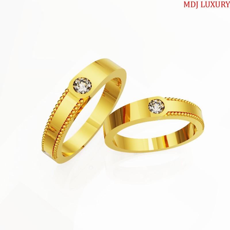 Nhẫn cưới mẫu mới 2020 Vàng tây MDJ - NC20
